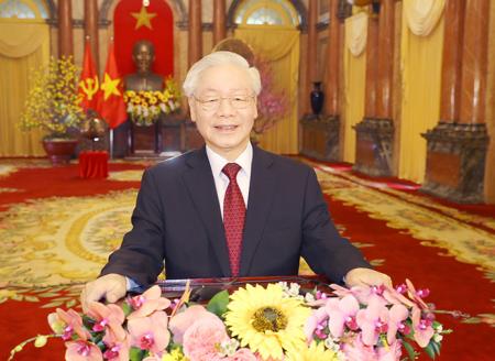 Lời chúc Tết Tân Sửu - 2021 của Tổng Bí thư, Chủ tịch nước Nguyễn Phú Trọng