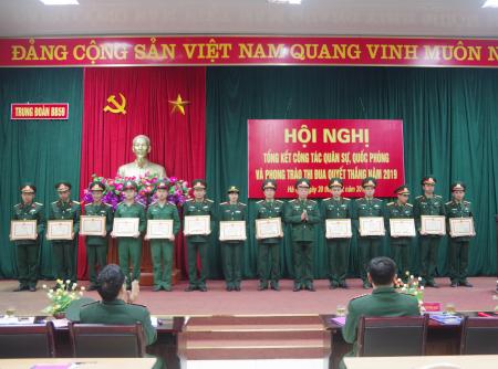 Trung đoàn Bộ binh 59 xây dựng vững mạnh toàn diện mẫu mực, tiêu biểu