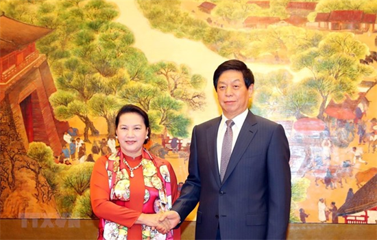 NA Chairwoman holds talks with Chinese National Peoples Congress leader