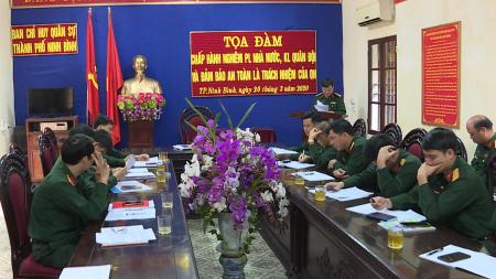 Công tác giáo dục pháp luật, quản lý kỷ luật ở lực lượng vũ trang tỉnh Ninh Bình