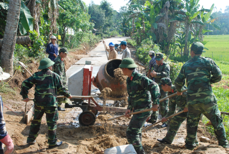 The provincial armed forces of Quang Ngai implement the Directive 855-CT/QUTW