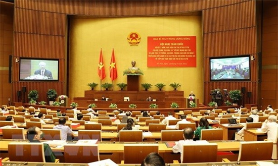 Speech of Party leader Nguyen Phu Trong at conference reviewing 12th Politburos Directive 05